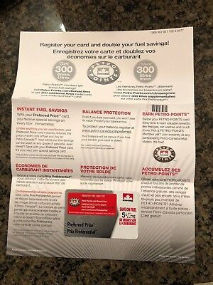Petro Canada Preferred Price Fuel Savings Card - 5 cents off 600L - $30 value