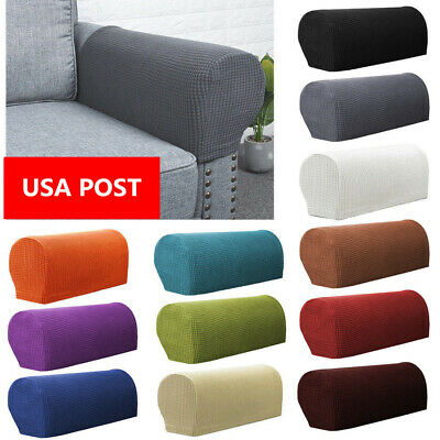 2X Premium Armrest Covers Stretchy Chair Sofa Couch Arm Protector Stretch to Fit