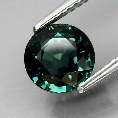 2.26Ct.Heated Only! Blue Sapphire Africa Round 7.2 mm.Good Luster&Eye Clean
