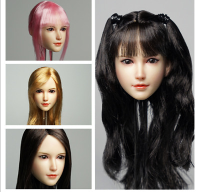 SUPER DUCK SDH015 1/6 Beauty Girl Head Carving Fit 12'' PH Body
