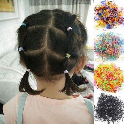 About 1000Pcs/Pack Rubber Hairband Silicone Ponytail Elastic Hair Rings For Girl