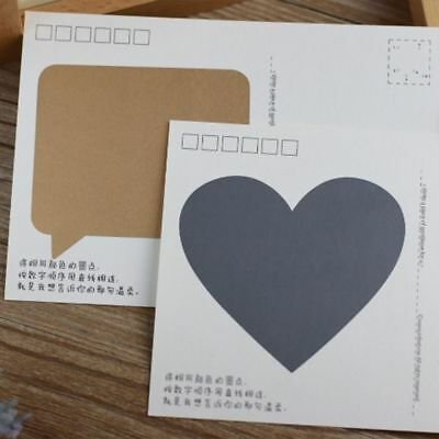 10PCS/BAG CREATIVE LOVE Heart Shape Secret Message Sticker