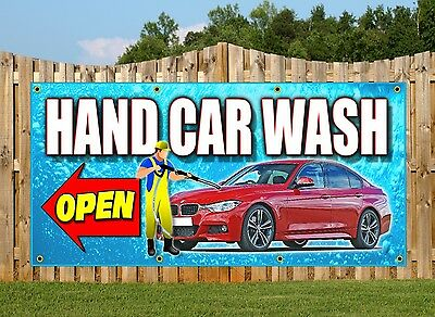 Carwash Pvc Banners - Printed Outdoor Sign Car Wash Banners Now Open