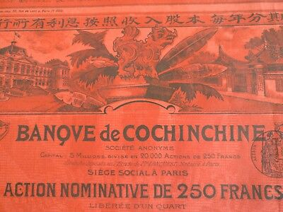 Banque de Cochinchine 1908