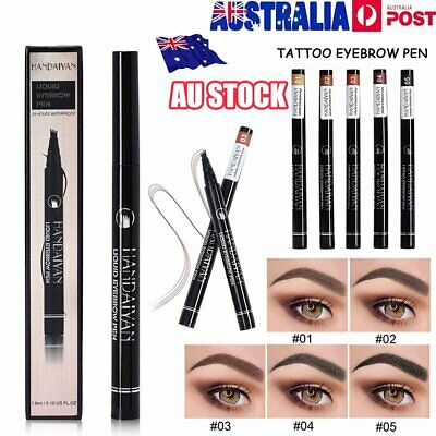 TatBrow Microblade Pen Four Eyebrow Tattoo Pen Waterproof Fork Tip Ink Sketch lh