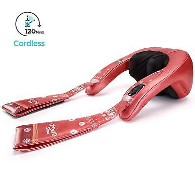 Cordless Shiatsu Shoulder and Neck Massager with Heat for Christmas Gift Package