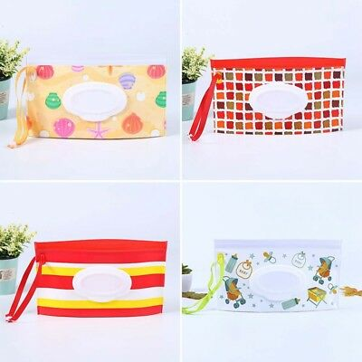 Baby Kids Clean Wipes Carrying Case Bag Makeup Pouch Wipes Container Home Decor