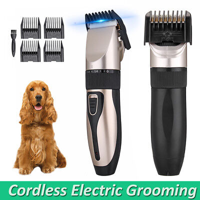 Pet Shave Clipper Hair Low Noise Cordless Electric Dog Cat Trimming Grooming Kit