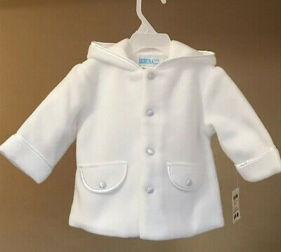 New Baby Girl White Christening Coat gown 3-6 months Jacket  Beautiful 68-74 cm