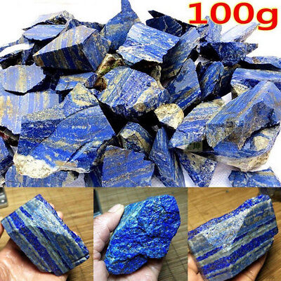 Raw Gemstone Afghanistan Lapis lazuli Crystal Natural Rough Mineral 100g Gifts I