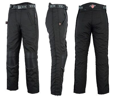 Mens Texpeed Black Waterproof Over Trousers W48 Long CS075 GG 02
