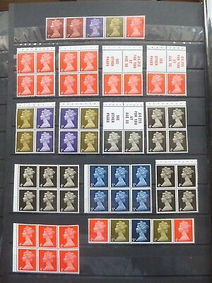 Specialised machin, definitives. Pre-decimal booklet panes. MNH. Unchecked.