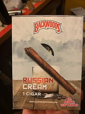 Backwoods Buy 1 Get 1 Natural Leaf Cigars Fresh Russian Cream Fast Free Shipping
