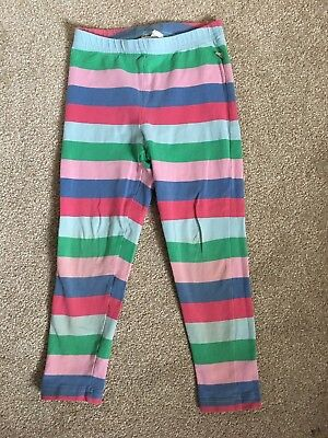 Girls striped leggings size 5-6 years multi coloured FRUGI