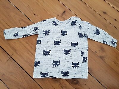 Seed Long Sleeve 'fox' Tshirt – Size 0 (6 to 12 months)