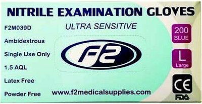 200 Nitrile Disposable Examination Gloves Large. Vets