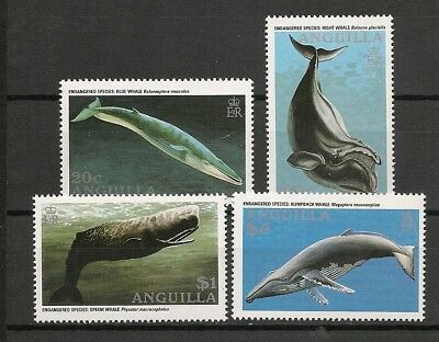 Anguilla 1996 Fauna Wildlife Marinelife Fisch Fish Whales complete set MNH