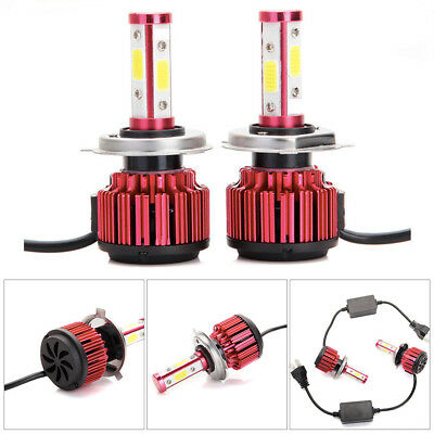 2018 4-Side H4 LED Headlight Car Bulbs 300W 36000LM High And Low Beam Bright