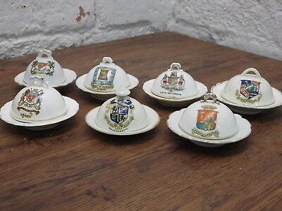 LOT OF 7 VINTAGE CRESTED CHINA MUFFIN DISH Gemma venetia Fairy FREE POSTAGE !!