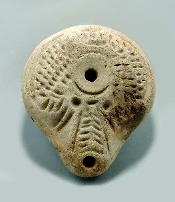 Romano-Egyptian Terracotta Decorated Oil Lamp (M175)