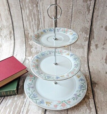 3 tier Vintage /Shabby Chic Bone China Cake stand Afternoon Tea/ Party/ Wedding