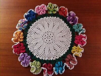 14 Vintage Doilies &  Potholders (some with Loops) + 2 Mini Crochet Pieces