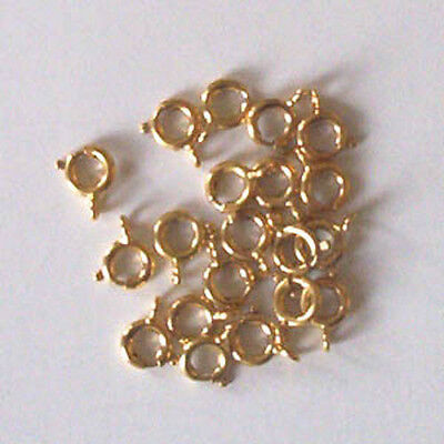 20 gold plated 6mm bolt rings, findings for jewellery making crafts