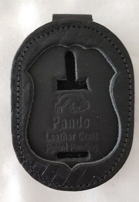 Leather Clip On Badge Holder By Pando Leather For B251Vrw