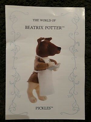Alan Dart Beatrix Potter Pickles Toy Knitting pattern