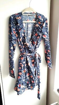Blue Floral Maternity Dress Size 10