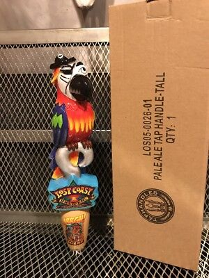 LOST COAST BREWERY ~ ARRGH PALE ALE ~ Figural PIRATE Parrot Bird Beer Tap Handle