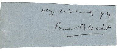 Paul Blouet - Max O'Rell - 19th century French author & journalist - signature
