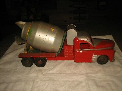 1950'S VINTAGE STRUCTO Ready-Mix  CEMENT MIXER TRUCK PRESSED STEEL TOY