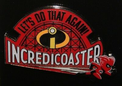 Disney California Adventure The Incredibles Incredicoaster Pin 2018