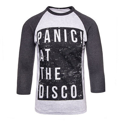 c532c517 Official PANIC! AT THE DISCO Black Box Charcoal LONG SLEEVE TOP - PATD Merch