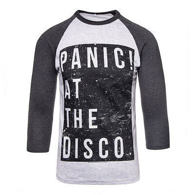 522c2a06 Official PANIC! AT THE DISCO Black Box Charcoal LONG SLEEVE TOP - PATD Merch