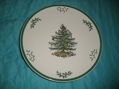 "Spode CHRISTMAS TREE 10.5"" Round Circle Pedestal Cake Stand. S3324-A1"