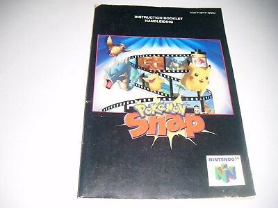 Original N64 Manual (Pokemon Snap) All Pages Complete