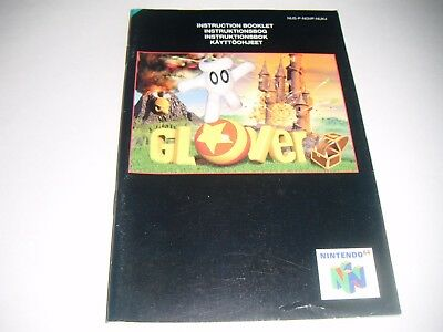 Original N64 Manual (Glover) All Pages Complete