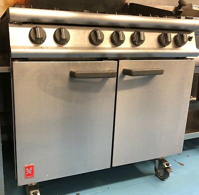Falcon 6 Burner Commercial Stove with Salamander (Propane)