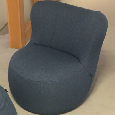 Sessel Und Hocker Freistil 173 By Rolf Benz In Stoff Blau Uvp 69400