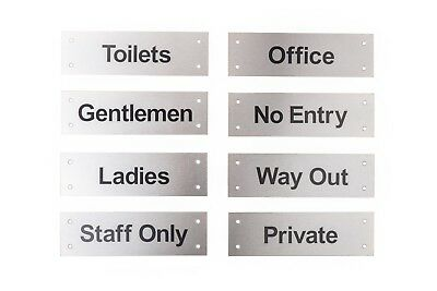 Facilities Door Sign, Stainless Steel,Toilet,No Entry,Way Out,Private,Office
