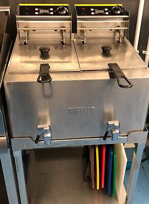 Buffalo Twin Tank Electric Deep Fat Fryer