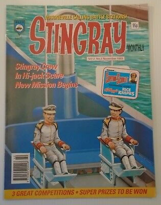 STINGRAY Monthly vol 2 no 2 1993  W A S P. , Z Knights add on back cover