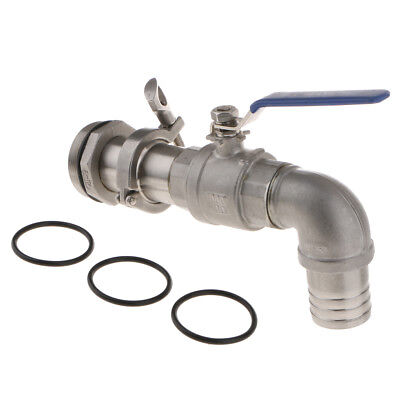 Steel Spigot Tap Water Oil Barrel Replacement Taps 90° 40.5mm Outlet