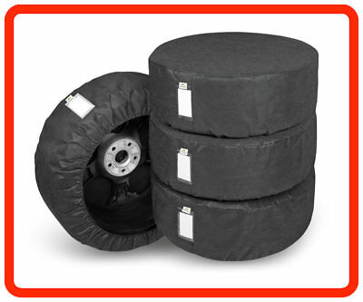 "4 x WHEEL COVERS 17""18''19''20'' Car Spare Wheel Covers black"