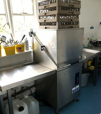 Pass Through Commercial Dishwasher with Side Benches