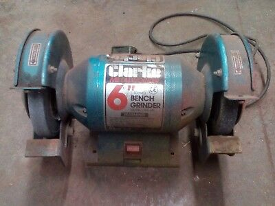 "Clarke 6"" Bench Grinder In Excellent Working Order"