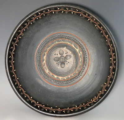 Large Greek Gnathian Decorated Terracotta Dish (M189)