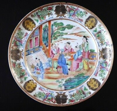 Ancienne assiette canton porcelaine Fine old chinese 19th plate